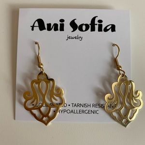 Gold Mandala Earrings, Stainless Surgical Steel